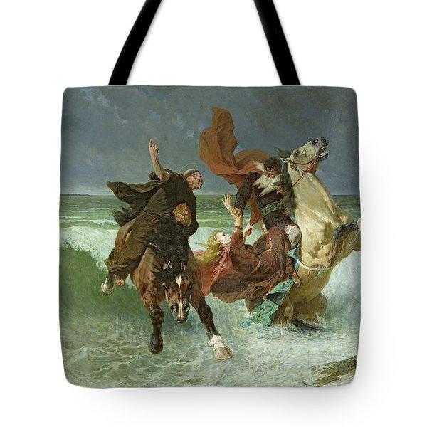 The Flight Of Gradlon Mawr Tote Bag