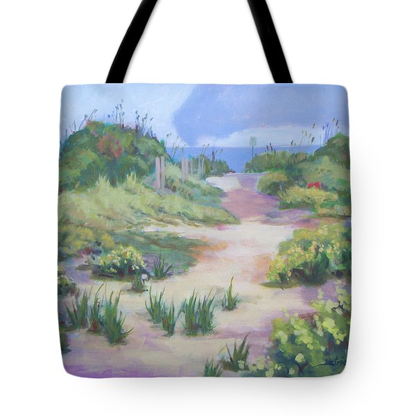 The Flip-flop Path To Paradise Tote Bag by Carol Strickland