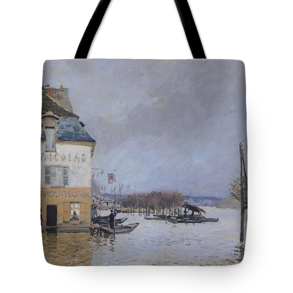 The Flood At Port Marly Tote Bag by Alfred Sisley