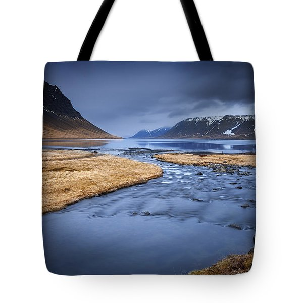 The Flow Of Tranquility Tote Bag by Dominique Dubied