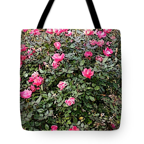 Tote Bag featuring the photograph Rose Bush by Skyler Tipton