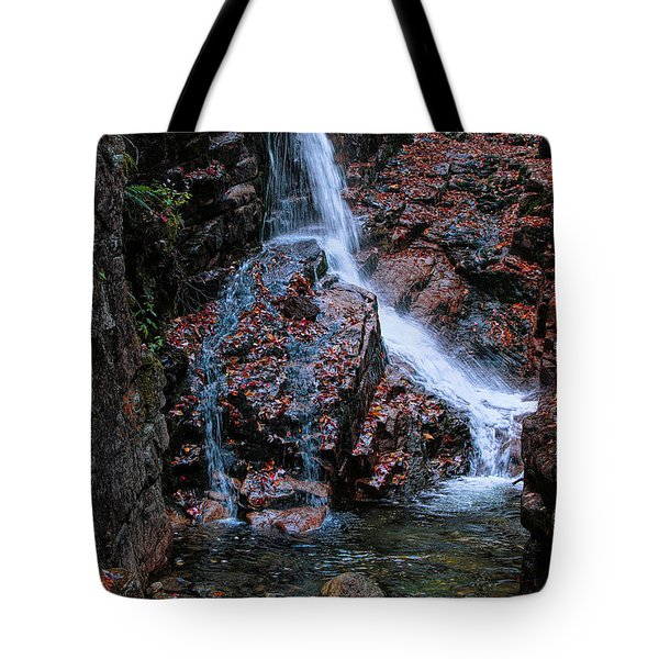 The Flume Waterfall Tote Bag