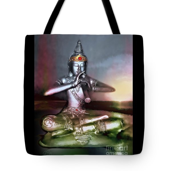 The Flute Player - Sunrise Melody Tote Bag
