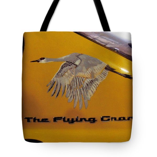 Tote Bag featuring the painting The Flying Crane by Richard Le Page