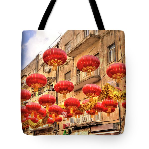 The Flying Dragon Tote Bag by Uri Baruch