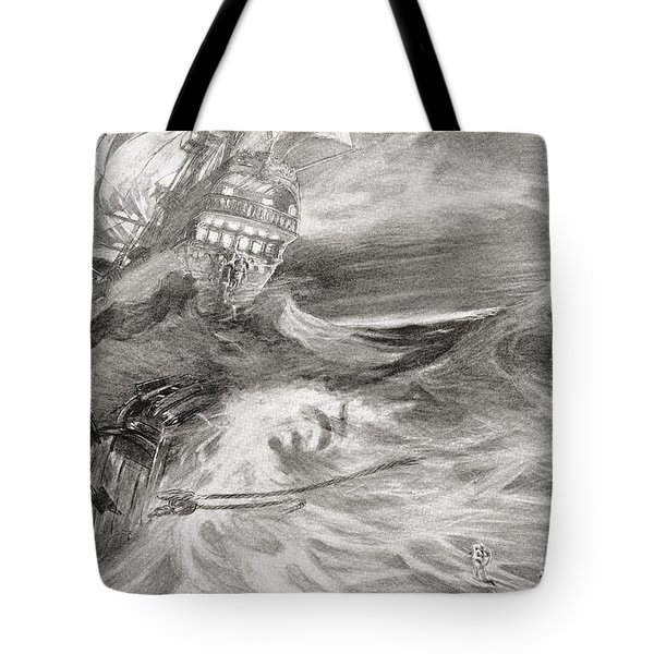 The Flying Dutchman. A Ghost Ship That Tote Bag