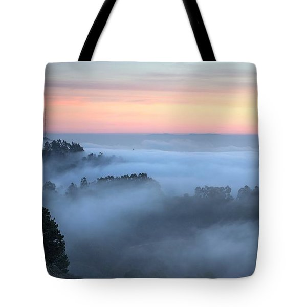 The Fog Kept On Rolling In Tote Bag by Peter Thoeny