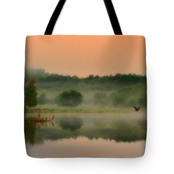 The Fog Of Summer Tote Bag by Elizabeth Winter