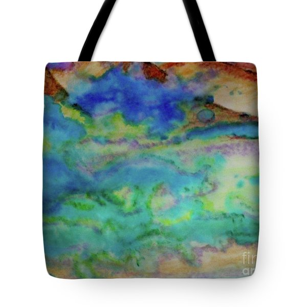 Tote Bag featuring the painting The Fog Rolls In by Kim Nelson