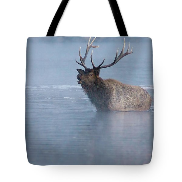 The Foggy Bugle Tote Bag