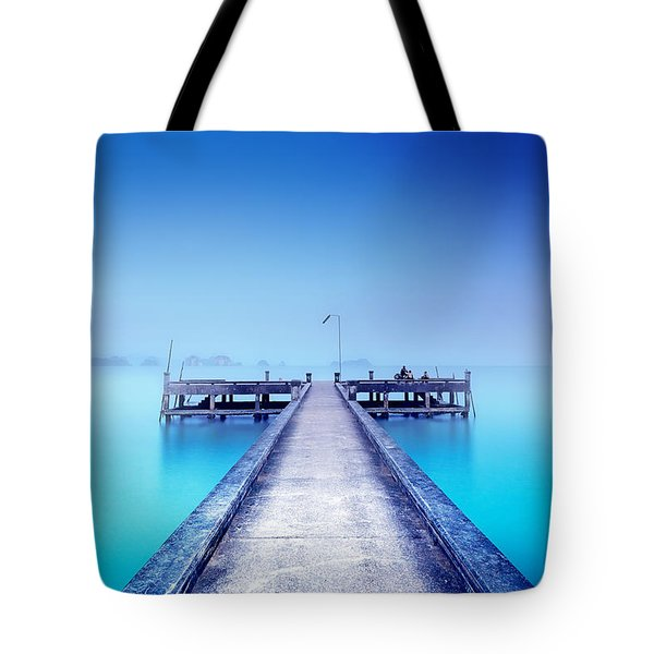 The Foggy Morning Tote Bag
