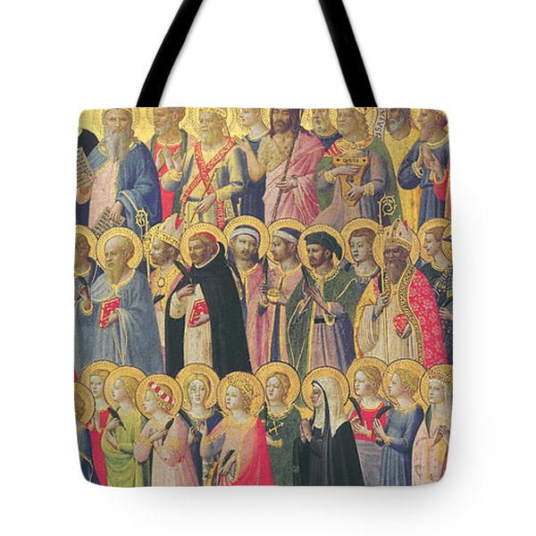 The Forerunners Of Christ With Saints And Martyrs Tote Bag by Fra Angelico