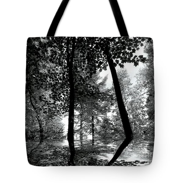 Tote Bag featuring the photograph The Forest by Elfriede Fulda