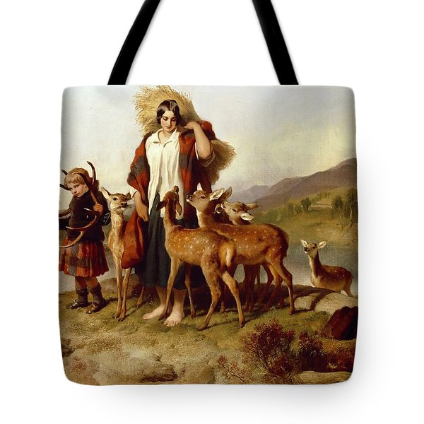 The Forester's Family Tote Bag by Sir Edwin Landseer