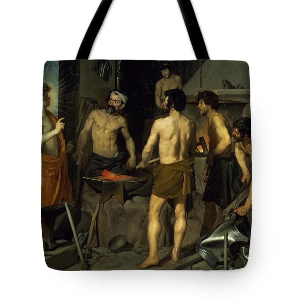 The Forge Of Vulcan Tote Bag by Diego Velazquez