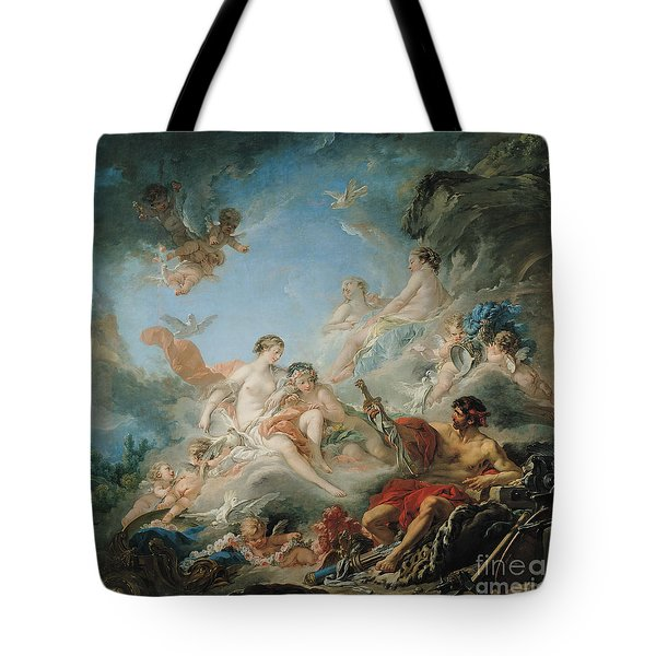 The Forge Of Vulcan Tote Bag by Francois Boucher
