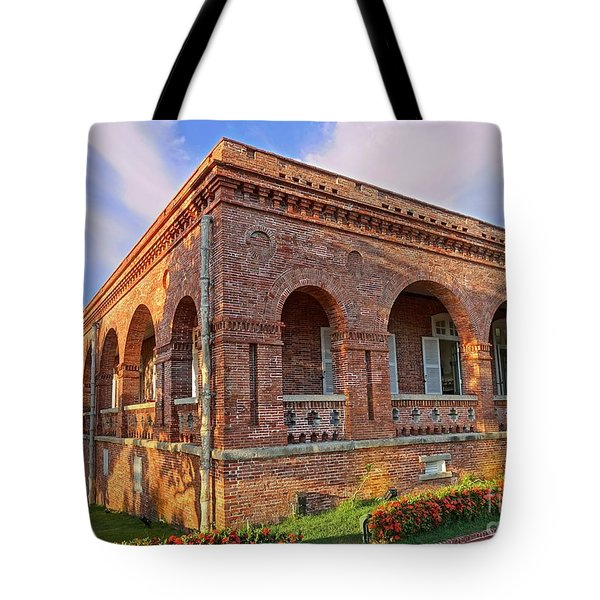 Tote Bag featuring the photograph The Former British Consulate In Kaohsiung In Taiwan by Yali Shi