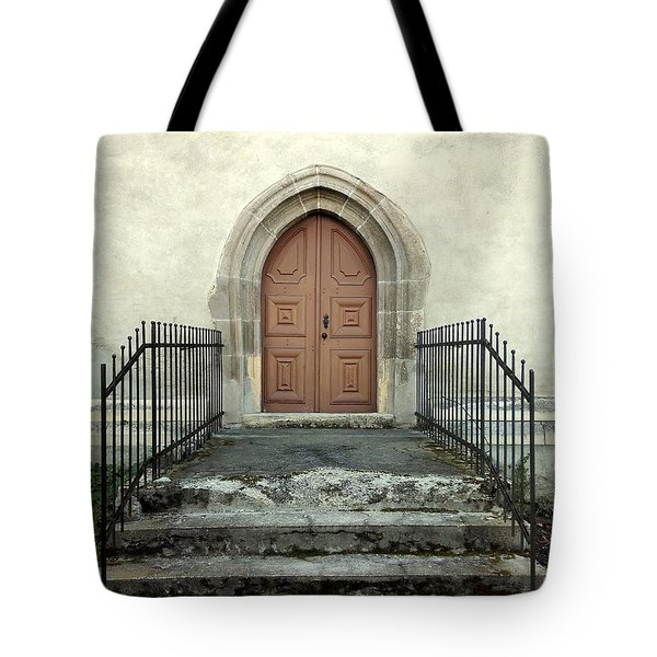 The Fortress Church's Side Door  Tote Bag