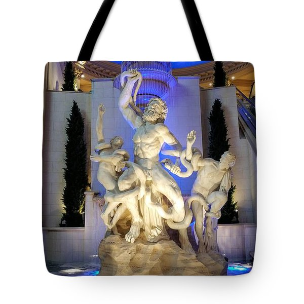 The Forum Shop Statues At Ceasars Palace Tote Bag