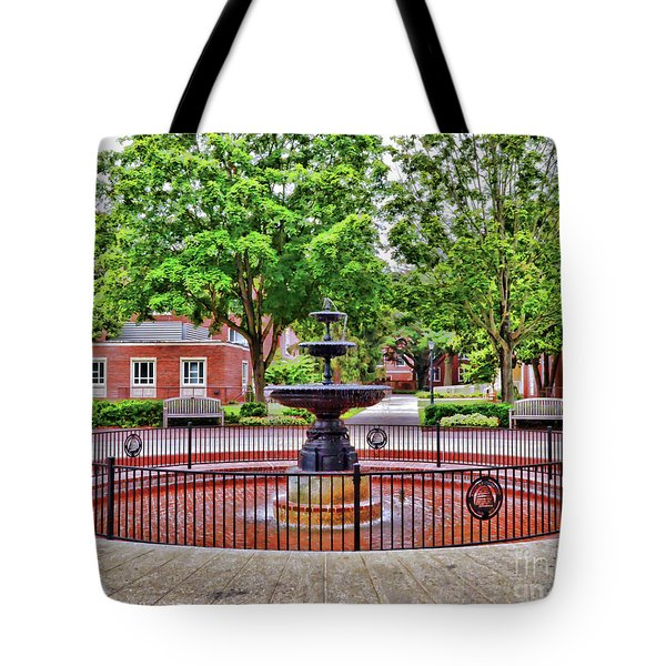 The Fountain At Radford University Tote Bag