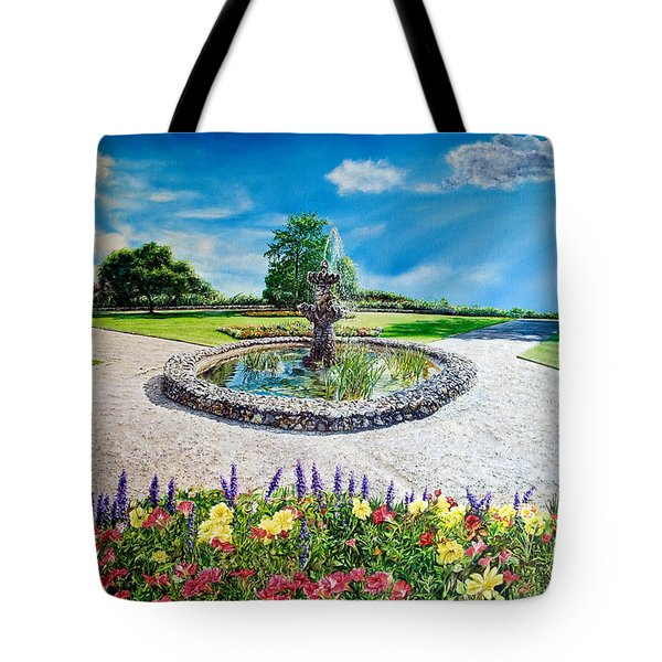 Gushing Fountain Tote Bag