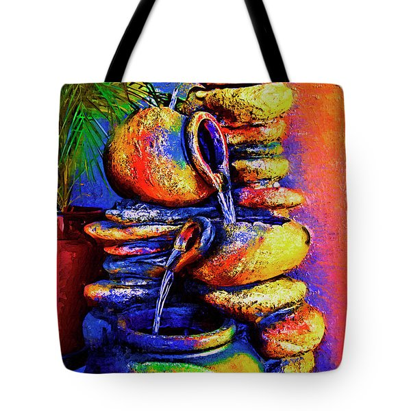 The Fountain Of Pots Tote Bag