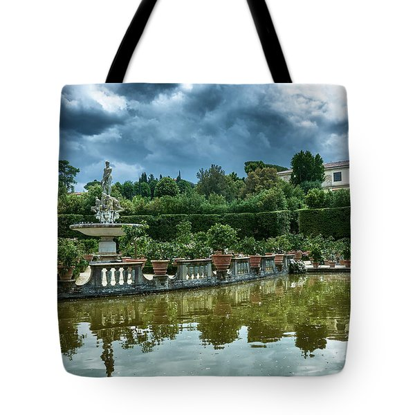 The Fountain Of The Ocean At The Boboli Gardens Tote Bag