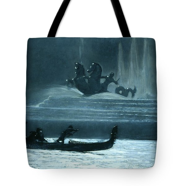 The Fountains At Night, World's Columbian Exposition Tote Bag