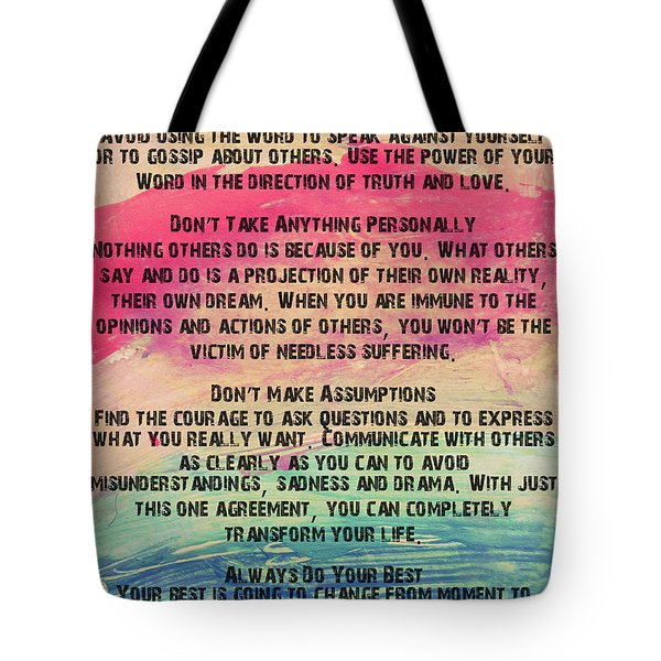 The Four Agreements 11 Tote Bag