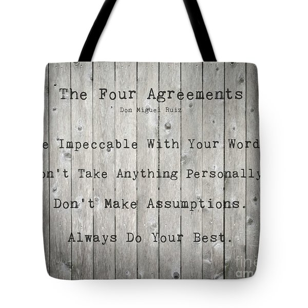 The Four Agreements 12 Tote Bag