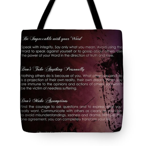 The Four Agreements 3 Tote Bag