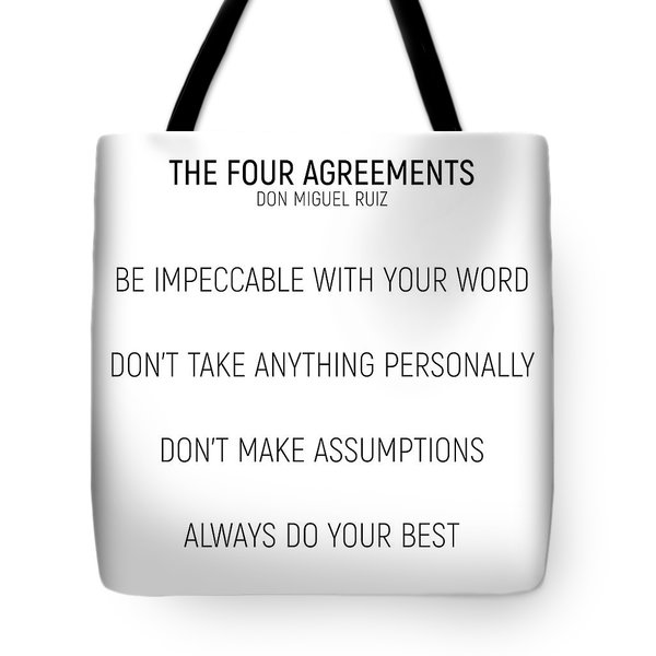 The Four Agreements #minismalism #shortversion Tote Bag