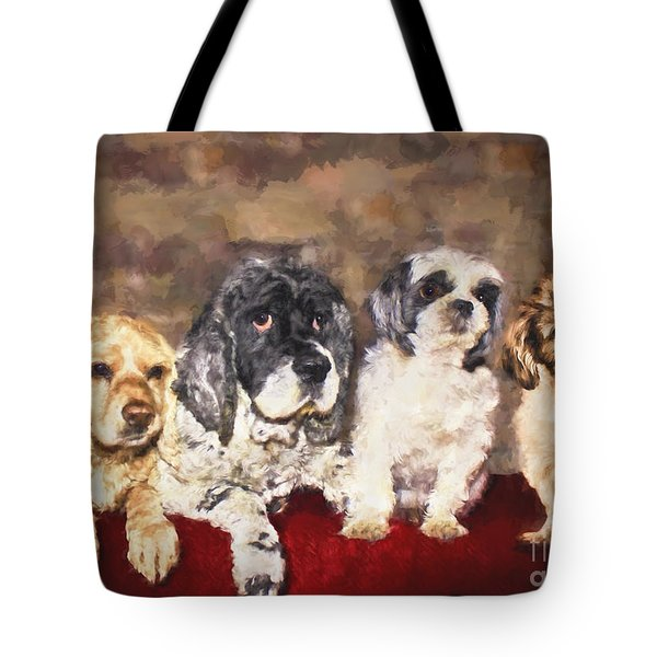 The Four Amigos Tote Bag by Janice Rae Pariza