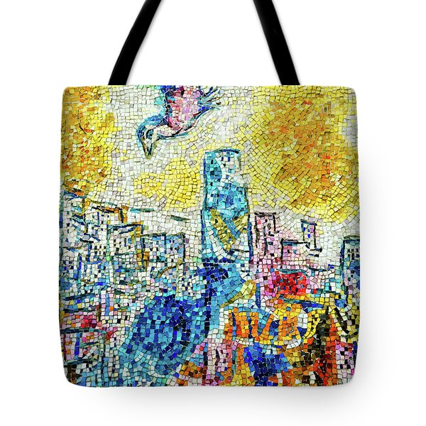 Tote Bag featuring the photograph The Four Seasons Chicago Portrait by Kyle Hanson