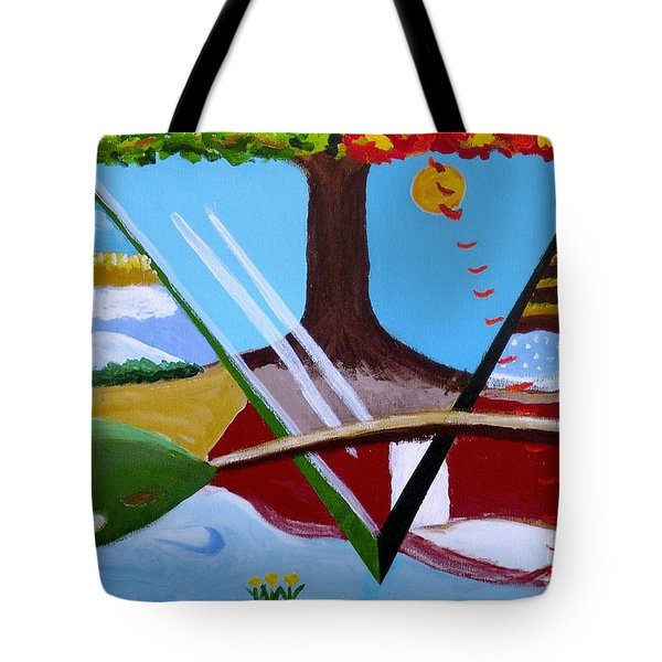 Tote Bag featuring the painting The Four Seasons by Rod Ismay