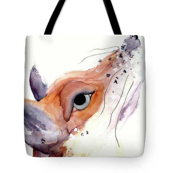 Tote Bag featuring the painting The Fox by Dawn Derman