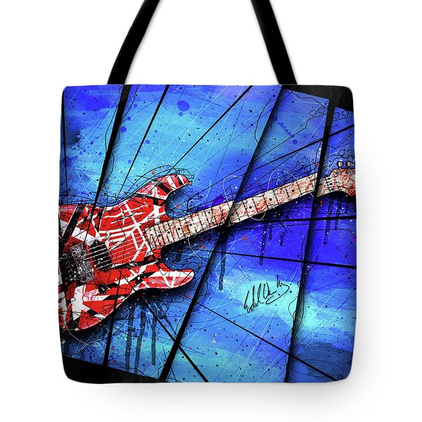 The Frankenstrat On Blue I Tote Bag by Gary Bodnar