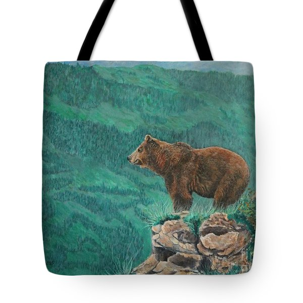 The Franklin Grizzly Bear Tote Bag