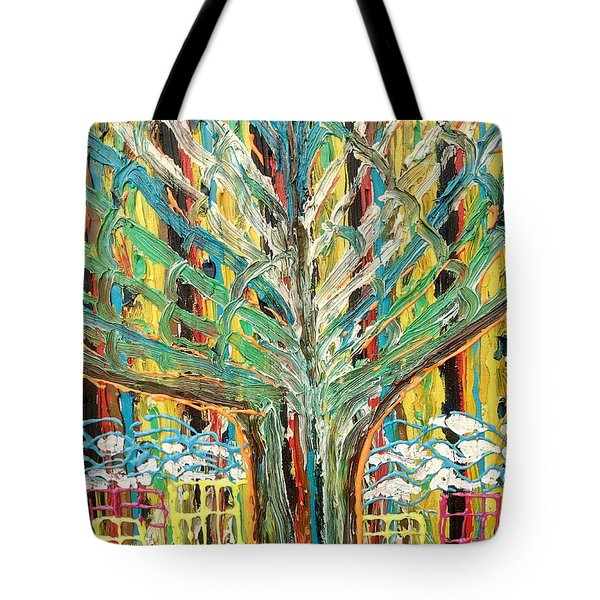The Freetown Cotton Tree - Abstract Impression Tote Bag