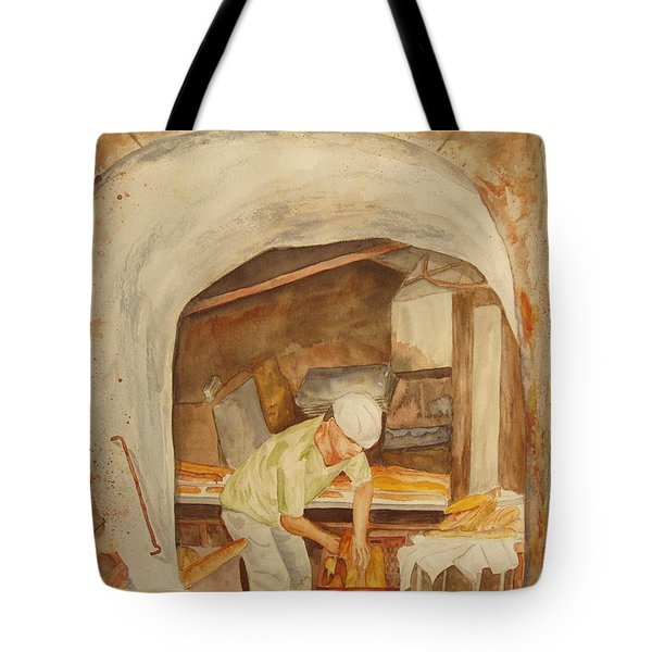 Tote Bag featuring the painting The French Baker by Vicki  Housel