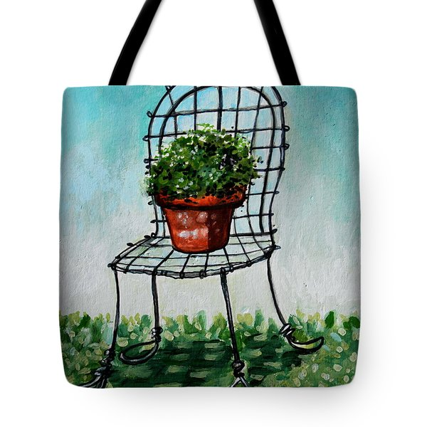 The French Garden Cafe Chair Tote Bag