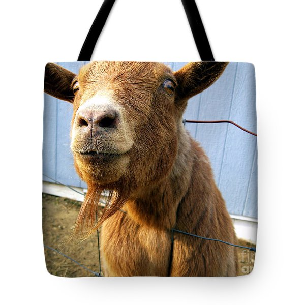 The Friendly Goat  Tote Bag by Sandra Church