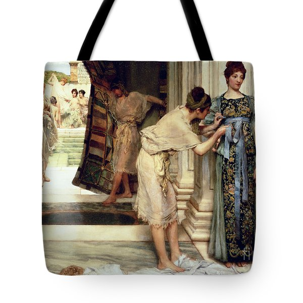 The Frigidarium Tote Bag by Sir Lawrence Alma-Tadema