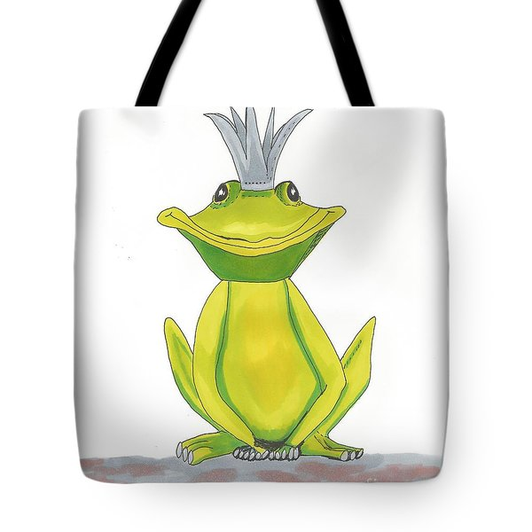 The Frog King Tote Bag by Isabel Proffit