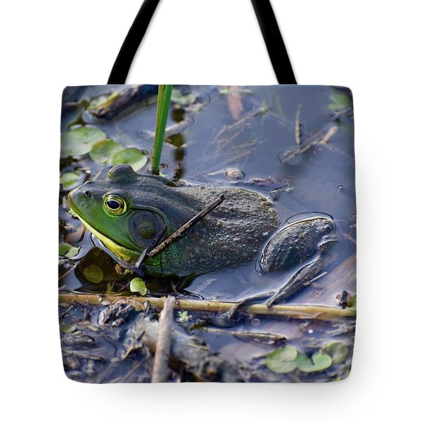 The Frog Remains Tote Bag