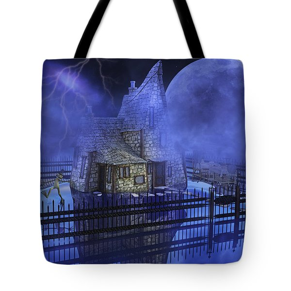 The Frog Who Loves Storms Tote Bag