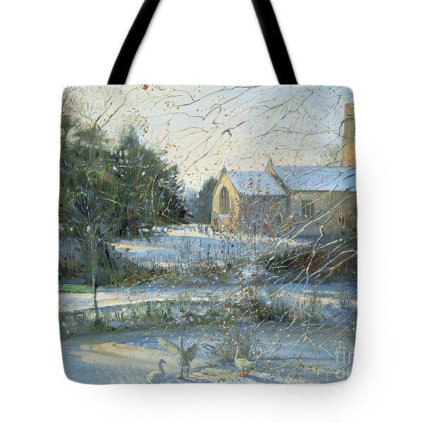 The Frozen Moat - Bedfield Tote Bag by Timothy Easton