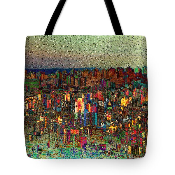 The Fun Side Of Town Tote Bag