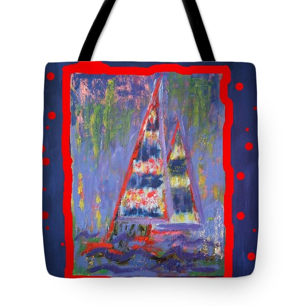 Tote Bag featuring the painting The Fun Of Sailing by Karin Eisermann