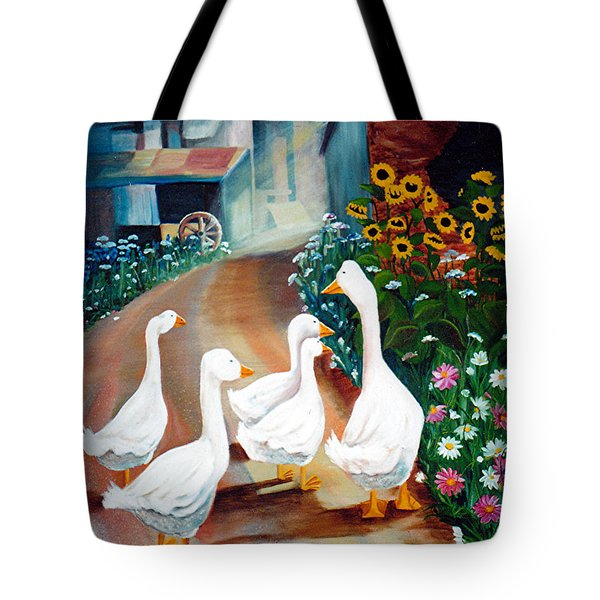 The Gaggle Tote Bag by Renate Nadi Wesley